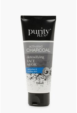 Womens Black Purity Plus Charcoal Face Mask