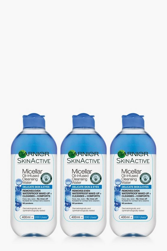 Womens Blue Garnier Delicate Eyes Micellar Water 3Pk