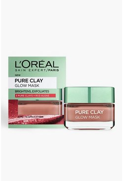 Loreal Pure Clay Tongesichtsmaske 50ml, Rot, Damen