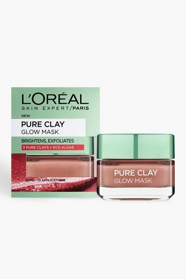 Womens Red L'Oreal Paris Pure Clay Glow Face Mask 50ml