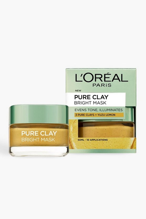 Womens Yellow L'Oreal Pure Clay Bright Face Mask