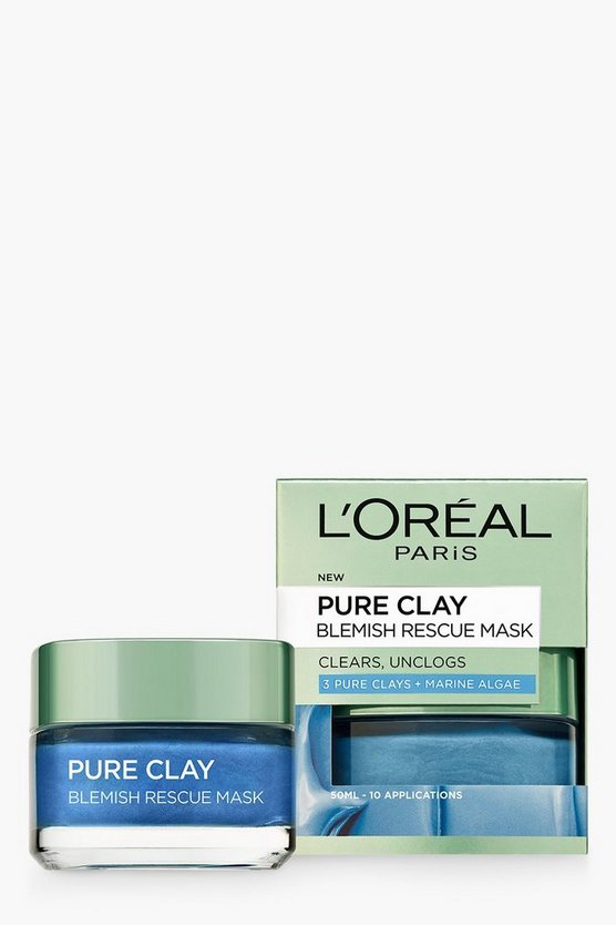 Womens L'Oreal Pure Clay Blemish Rescue Face Mask