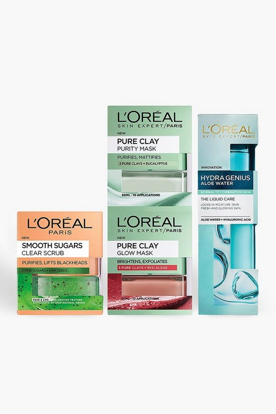 Womens Blue L'Oreal Girls Night In Pamper Skincare Kit