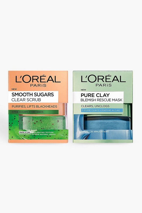 Womens Grey L'Oreal Blackhead Rescue Skincare Kit
