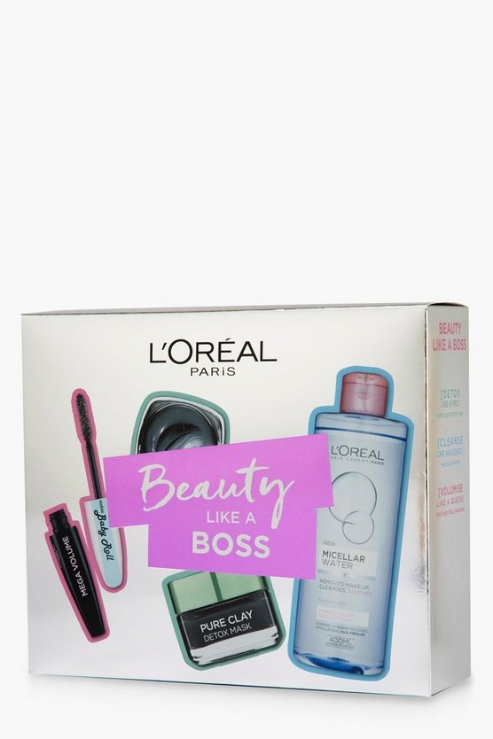 Womens Silver Loreal Beauty Like A Boss With Clay Gift Set