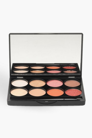 Womens Multi Boohoo 8 Shade Bronze Eye Palette