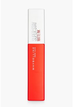 Maybelline Superstay rossetto opaco Heroine, Rosso, Femmina