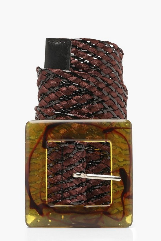 Straw Resin Buckle Belt