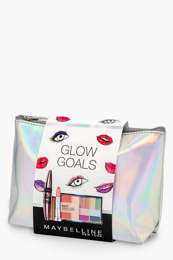 Womens Silver Maybelline Glow Goals Christmas Gift Set
