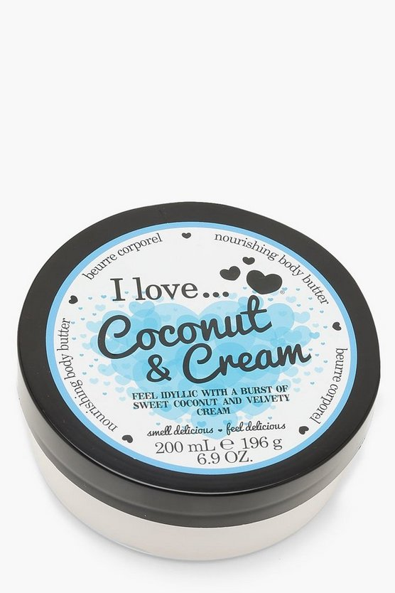 Womens White Coconut Cream Body Butter 200ml