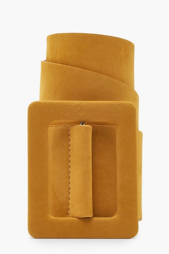 Self Buckle Suede Belt