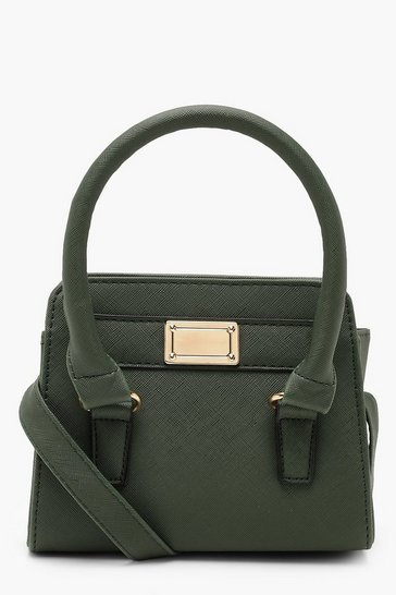 Womens Green Circle Trim Mini Grab Bag