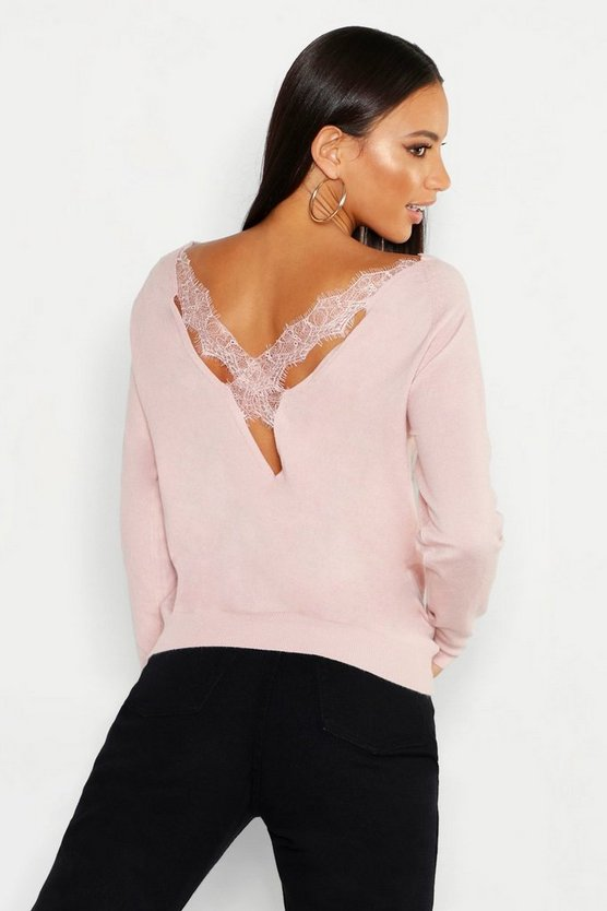 Lace Cross Back Jumper