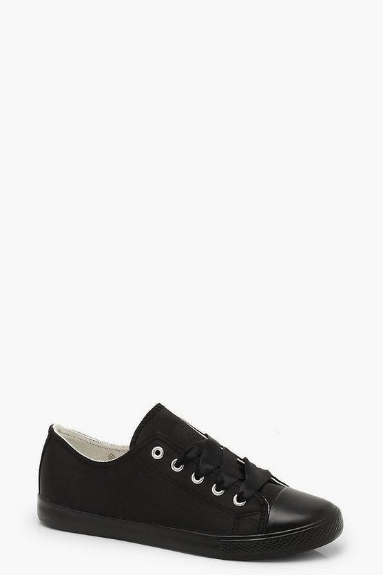 Ribbon Lace Up Trainers