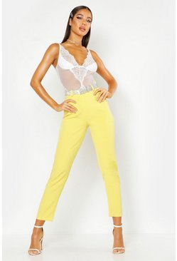 Womens Yellow Tapered Trouser