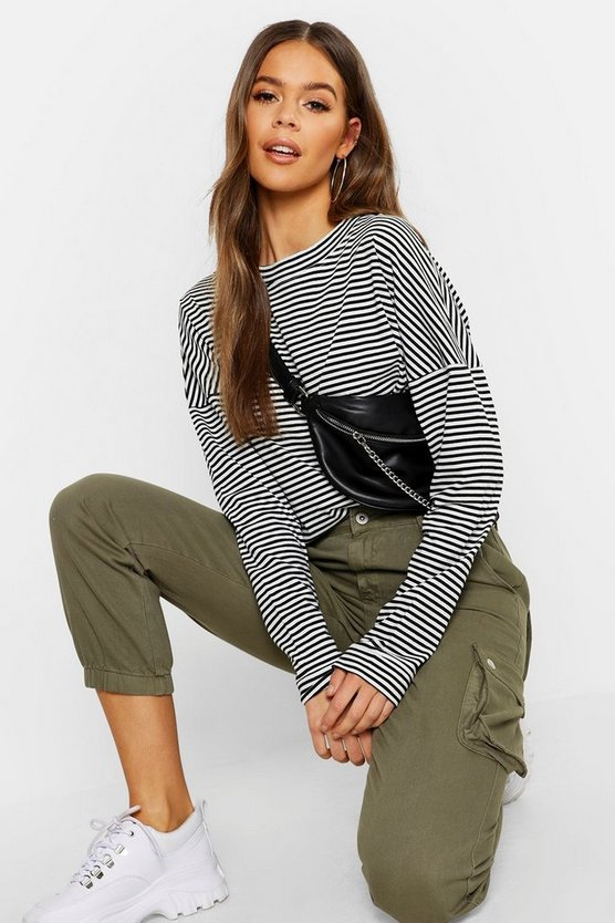 Womens Stripe Cotton Long Sleeve Shirt