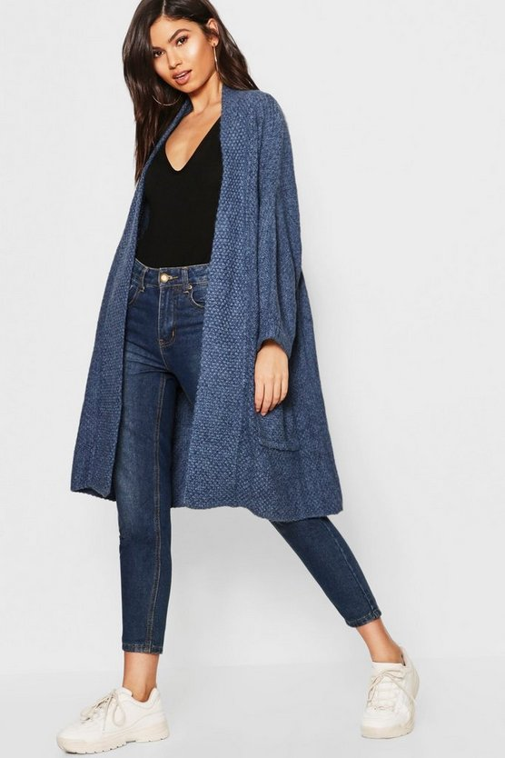 Oversized Slouchy Pocket Front Cardigan