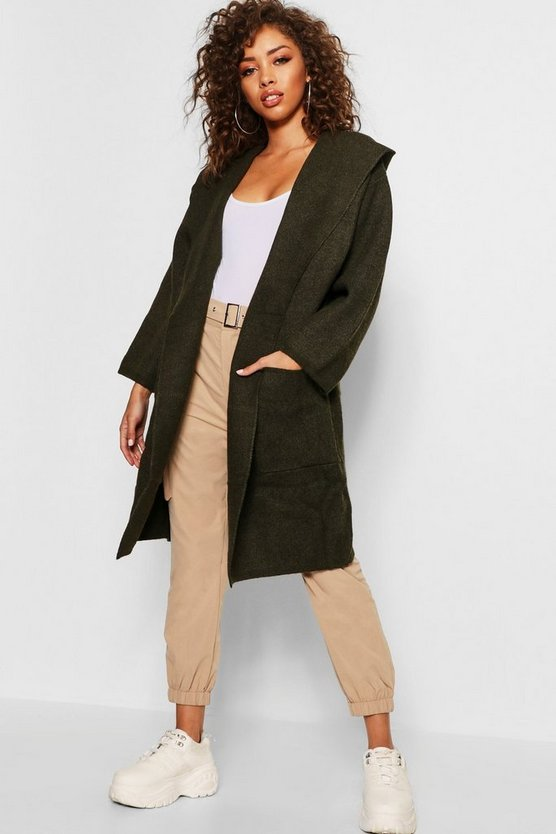 Oversized Longline Hooded Cardigan