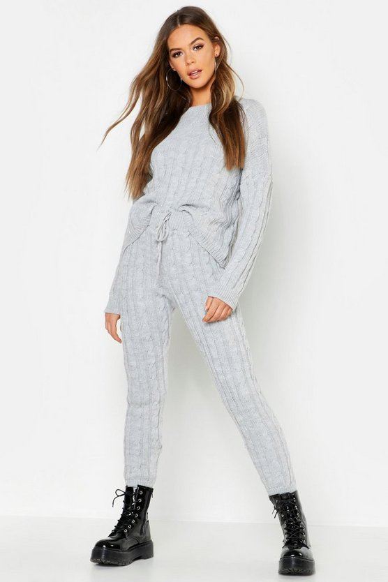 Cable Knit Trouser Co-ord