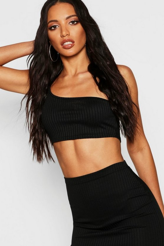 Jumbo Rib Neon One Shoulder Bralet