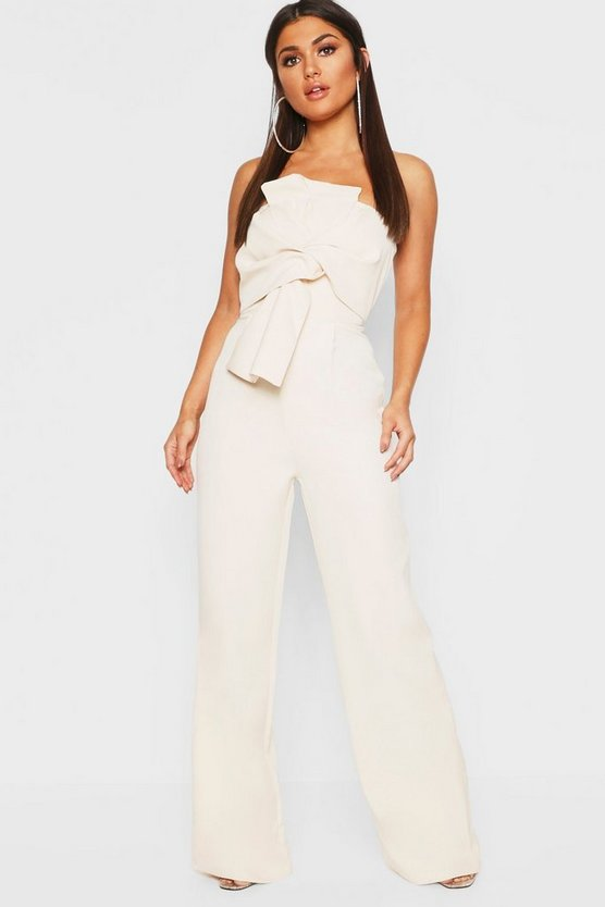 Boutique Bow Front Jumpsuit