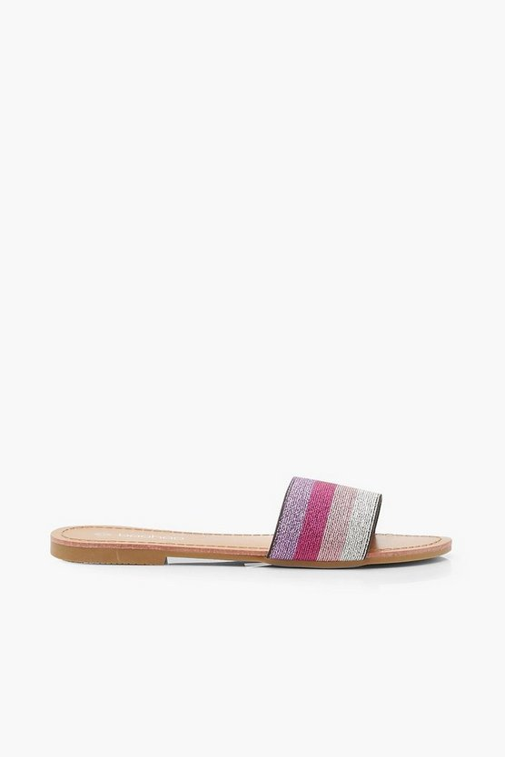 Metallic Stripe Sliders
