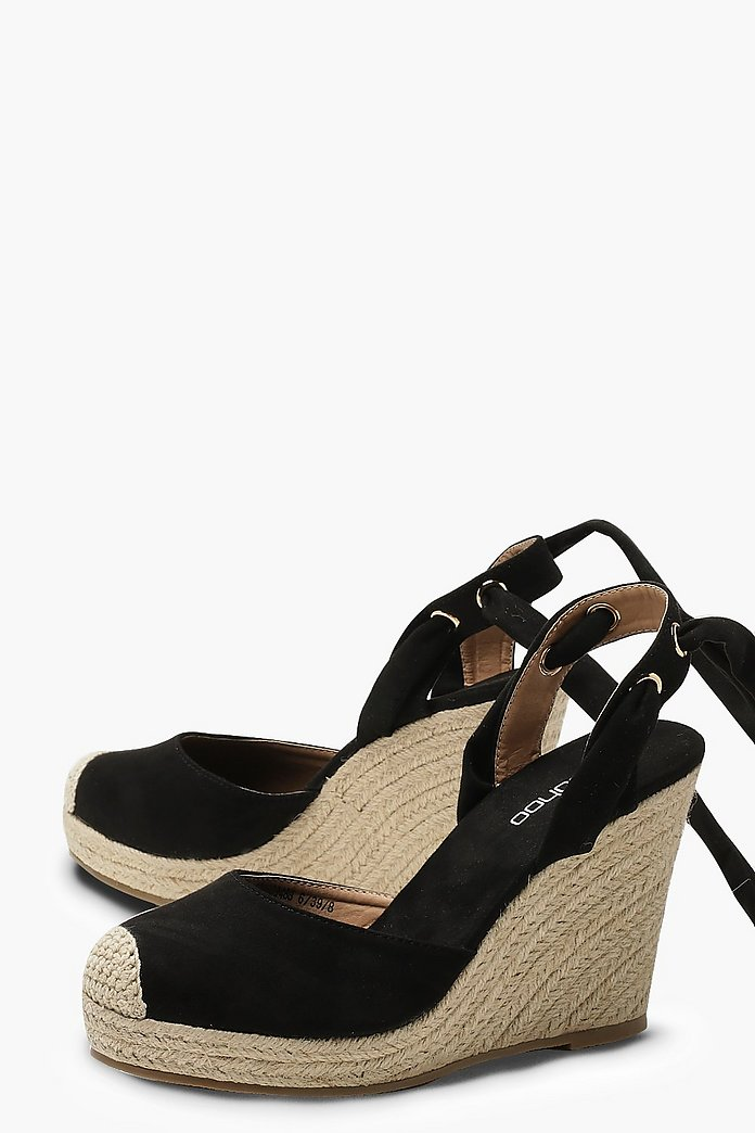 45cafcd04d2 Round Toe Espadrille Wedges