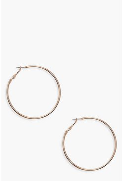 Rose gold 6cm Hoop Earrings