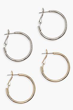 25mm Hoop Earring 2 Pack