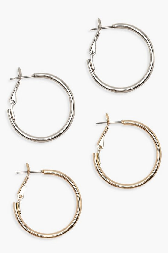 25mm Hoop Earring 2 Pack