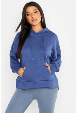 Womens Midnight Side Slit Hoody