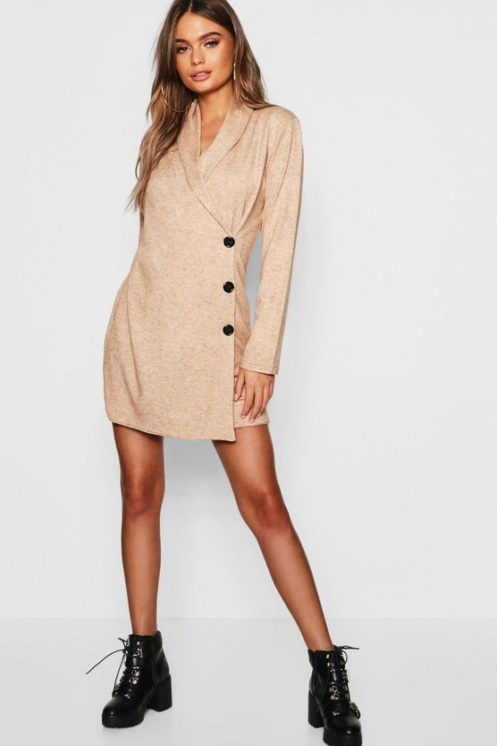 Wrap Button Detail Mini Dress