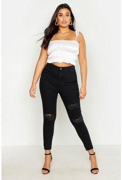Womens Black All Sizes Collection High Waist Jeggings