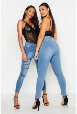 Womens Light blue All Sizes Collection High Waist Jegging