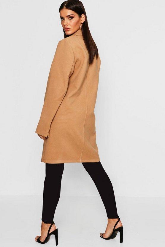 Collared Wool Look Coat