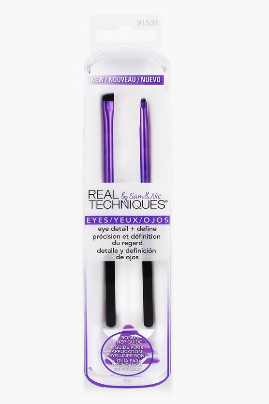 Real Techniques Eye & Define Brush Set, Purple, DAMEN