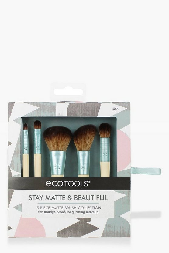 Womens Green EcoTools Stay Matte & Beautiful 5Pk Brush Kit