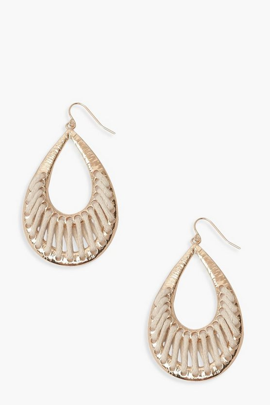 Rope Wrap Teardrop Earrings
