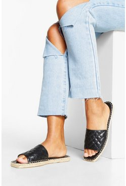 Quilted Espadrille Espadrille Quilted Sliders Sliders Espadrille Quilted nmy0wvNO8