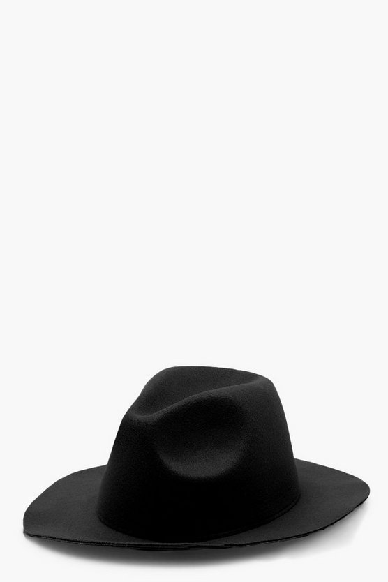 Womens Black Fedora Hat