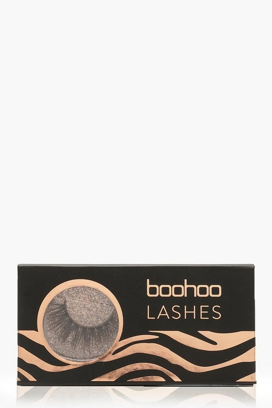 Womens Black Boohoo Lashes - A14