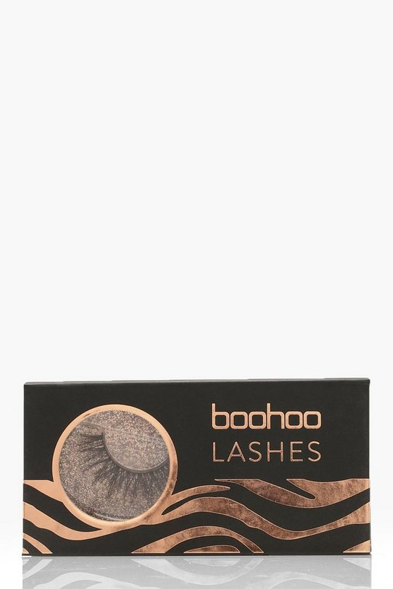 Womens Black Boohoo Lashes - AO17