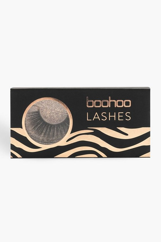 Womens Black Boohoo Lashes - A27