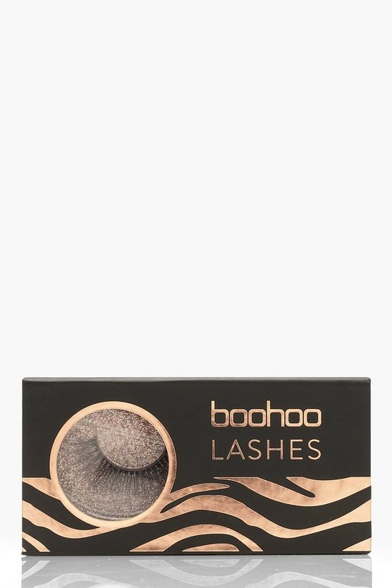 Womens Black Boohoo Lashes - AO1