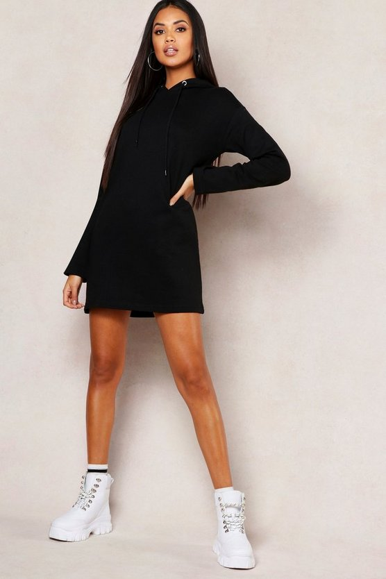 Hooded Oversized Sweatshirt Dress