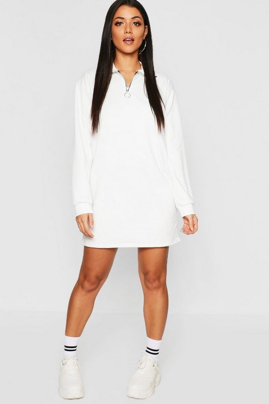 O Ring Detail Sweat Dress