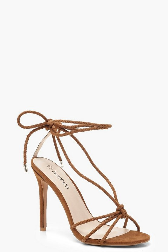 Plaited Wrap Heel Sandals