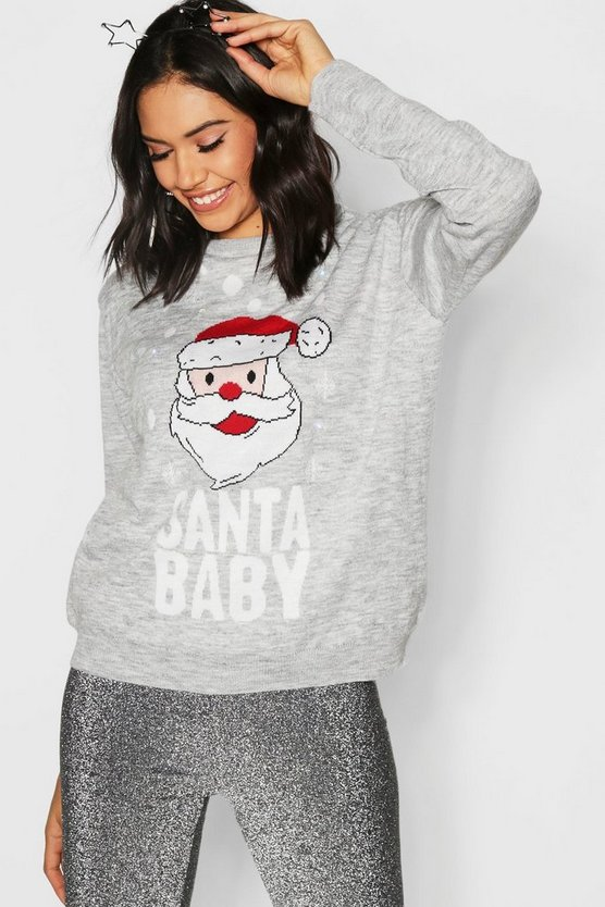 Christmas Flashing Light Santa Jumper
