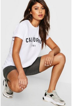 White California Slogan T-Shirt