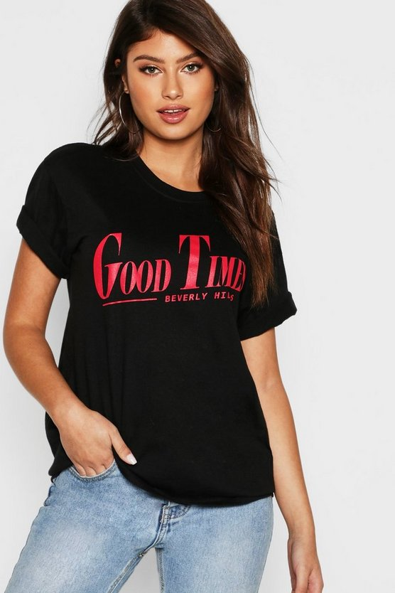 T-shirt à slogan Good Times